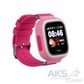 Умные часы Smart Baby Q100 GPS-Tracking, Wifi Watch (Pink)