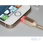 Вид 4 - Кабель USB GOLF Lightning LED Fabric Gold