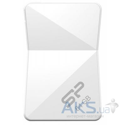 Флешка Silicon Power 64Gb Touch T08 White USB 2.0 (SP064GBUF2T08V1W)