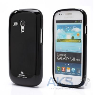 Чехол Mercury Jelly Color Series Samsung i8190 Galaxy S3 mini Black