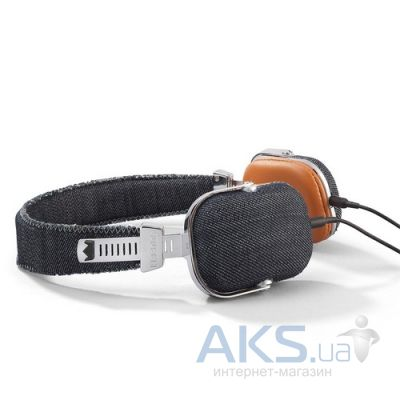 Наушники (гарнитура) Frends Light Denim On-Ear Headphones Leather Black/Brown