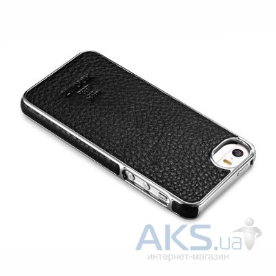 Чехол Xoomz Litchi Pattern Leather Electroplating Apple iPhone 5, iPhone 5S, iPhone 5SE Black