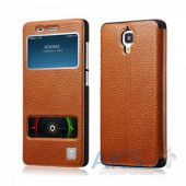 Чехол Xoomz Litchi Pattern Leather для Xiaomi Mi4 Brown