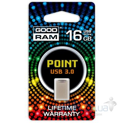 Флешка GooDRam 16Gb POINT USB 3.0 Silver