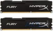 Оперативная память Kingston DDR3 8Gb (2x4GB) 1866 MHz HyperX Fury Black (HX318C10FBK2/8)