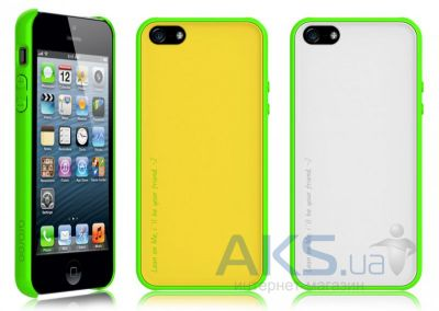 Чехол Araree AMY Apple iPhone 5, iPhone 5S, iPhone SE Lemon Zest+White
