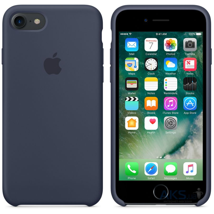 Чехол Apple Silicone Case iPhone 7, iPhone 8 Midnight Blue_High Copy - фото 2