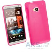 Чехол Celebrity TPU cover case for HTC One M7 Pink