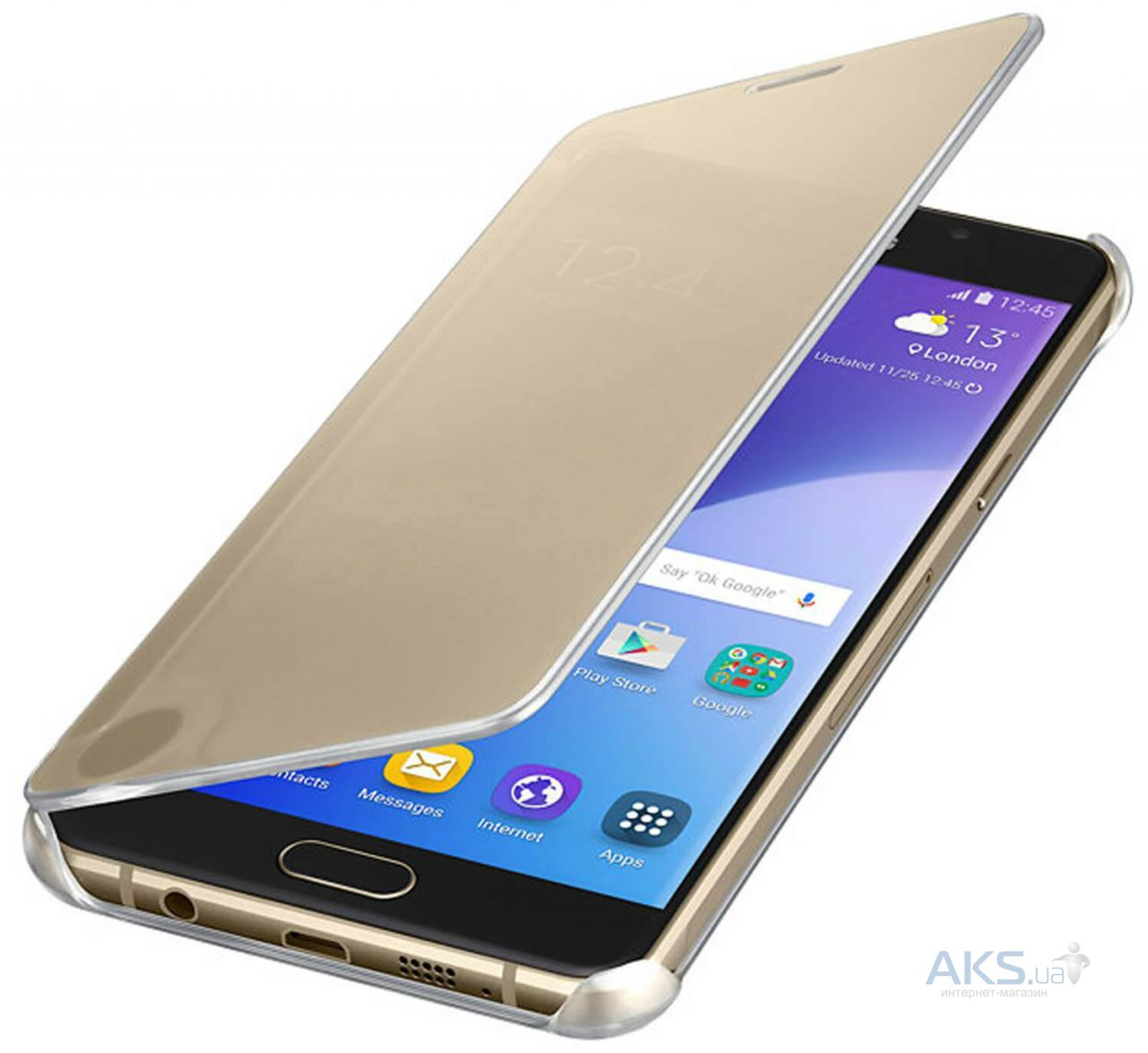 Чехол Samsung Clear View Cover Series Samsung A510 Galaxy A5 2016 Gold (EF-ZA510CFEGRU)