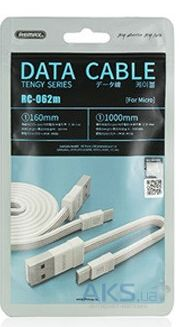 Вид 4 - Кабель USB Remax Tengy Series 160mm +1000mm micro USB Data Cable White (RC-062m)