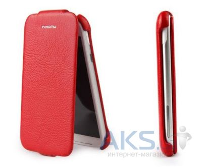 Чехол Nuoku luxury leather case for HTC Sensation XL G21 Red