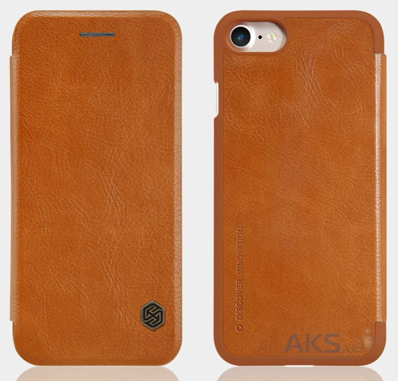 Вид 4 - Чехол Nillkin Qin Leather Series Apple iPhone 7 Brown