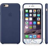 Вид 2 - Чехол Apple Leather Case for iPhone 6 Plus Midning Blue (MGQV2)
