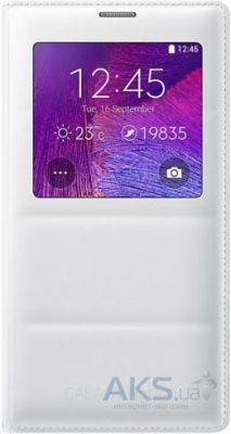 Чехол Samsung S View для Galaxy Note 4 White (EF-CN910BWEGRU)