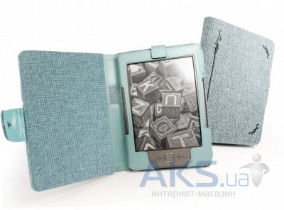 Обложка (чехол) Tuff-Luv Book Style (G143) Turquoise Blue