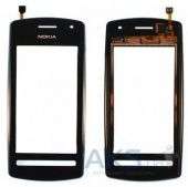 Сенсор (тачскрін) Nokia 600 with frame (original) Black