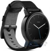 Вид 4 - Умные часы Motorola Moto 360 2nd Generation 42mm Stainless Steel with Black Leather Strap