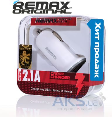 Зарядное устройство Remax Dual USB Car Charger White (RCC201 Mini)