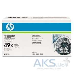 Картридж HP 49X для LJ 1320 series (Q5949XD) Dual-pack Black