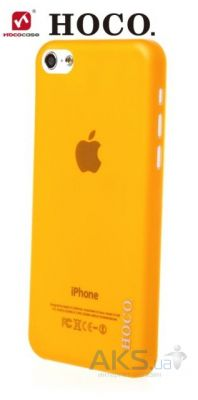 Чехол Hoco Ultrathin transparent cover case for iPhone 5C Orange