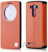 Чехол Xoomz Litchi Pattern Leather LG Optimus G3 D850 Orange