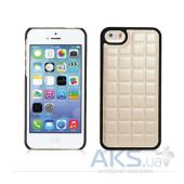 Вид 2 - Чехол Xoomz PU Grid Apple iPhone 5, iPhone 5S, iPhone SE White