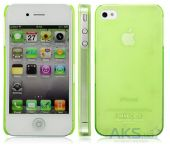Чехол IMAK Ultra Thin Color Series Apple iPhone 4, iPhone 4S Transparent Lime