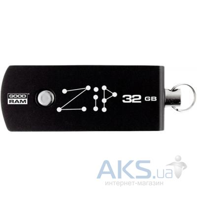 Флешка GooDRam 32GB Zip Black USB 2.0 (PD32GH2GRZIKR9)
