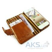 Вид 3 - Чехол Alston Craig Vintage Genuine Leather Wallet Case Cover Apple iPhone 6, iPhone 6S Brown (G10_21)