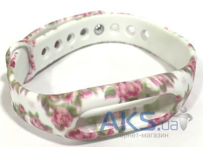 Xiaomi Mi Band 1S Pulse ремешок Flowers on White (182337)
