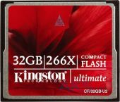 Карта памяти Kingston 32Gb CF Ultimate 266x (CF/32GB-U2)