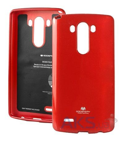 Чехол Mercury Jelly Color Series LG Optimus G3 D855, D850, D851 Red