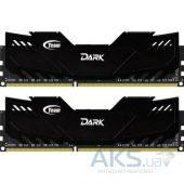 Оперативная память Team DDR4 16GB (2x8GB) 3000 MHz Dark Black (TDKED416G3000HC15ADC01)