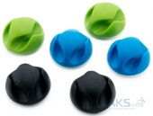 Органайзер для кабелей ExtraDigital Cable Clips CC-929 Black / Blue / Green (KBC1694)