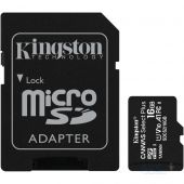 Карта памяти Kingston microSDHC 16GB Canvas Select Plus Class 10 UHS-I U1 V10 A1 + SD-адаптер (SDCS2/16GB)