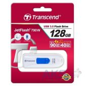 Вид 4 - Флешка Transcend 128GB JetFlash 790 White USB 3.0 (TS128GJF790W)