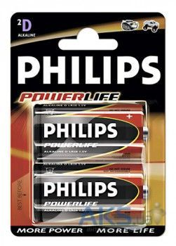 Элемент питания Philips D (LR20) Power Life   1шт