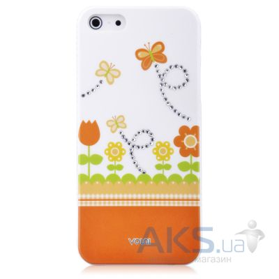 Чехол Vouni Swarovski Apple iPhone 5, iPhone 5S, iPhone 5SE Orange
