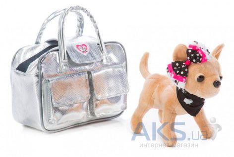 73c1913ec6d3 Вид 1 - Игрушка Chi Chi Love Собачка Чихуахуа Серебристый гламур с сумочкой  и заколкой для