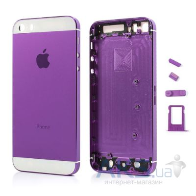 Корпус Apple iPhone 5 Purple / White