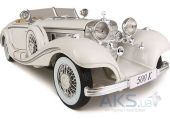 Вид 3 - Автомодель Maisto Mercedes-Benz 500 K Typ Specialroadster (1936) Macharadga (36055 white) Белый