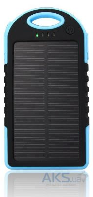Внешний аккумулятор MANGO IPX6 waterproof solar 5000mAh Black/Blue