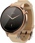 Умные часы Motorola Moto 360 2nd Generation 42mm Stainless Steel with Rose Gold Leather Strap
