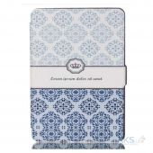Обложка (чехол) Original Leather Case for Amazon Kindle 6 2014 Blue Pattern