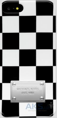 Чехол Michael Kors Checkers Case for iPhone 5/5S Black/White (MK-CHCK-BLWH)