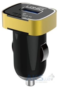 Зарядное устройство LDNio USB Car Charger 2.1A Black / Gold (DL-C211)