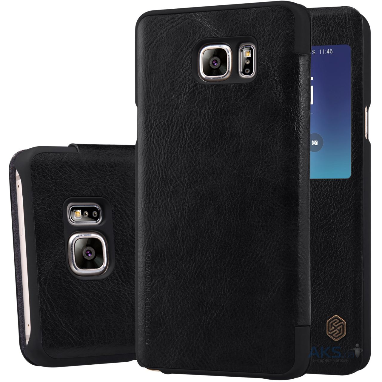 Чехол Nillkin Qin Leather Series Samsung N920 Galaxy Note 5 Black