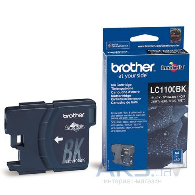 Картридж Brother DCP-385/6690, MFC990CW (LC1100BK) Black