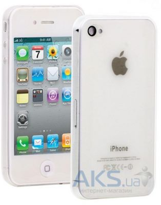 Чехол Celebrity TPU case for iPhone 4, iPhone 4S White