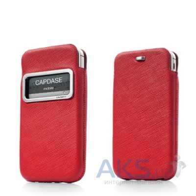 Чехол Capdase Smart Pocket Case ID Luxe Red/Black Apple iPhone 4, iPhone 4S (DPIH4S-H291)